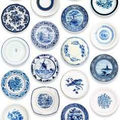 studio ditte / Porcelain wallpaper/blue | 輸入壁紙専門店 WALPA