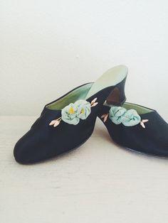 1920s boudoir heels / 1920s slippers / Pillow Talk by nocarnations