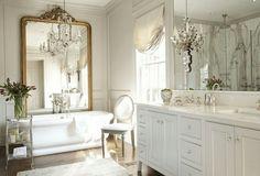 Chic Bathroom, mirror, antique mirror