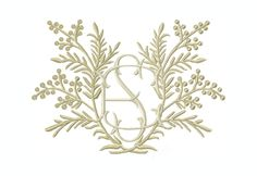 Harvest Laurel Wreath Embroidery Design for embroidery machine monogramming PES BX Embrilliance Brother– HERRINGTON DESIGN