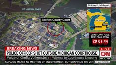 Police Officer Shot Outside Michigan Courthouse