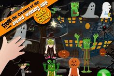 Pin for Later: 20 Spooktacular Halloween Apps Just For Tots ClickySticky Halloween Sticker Book