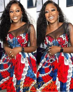 48 Edition of EsB TV - Shop These New Aso ebi Lace style & African Print Trend . Latest Ankara Dresses, Ankara Dress Styles, Latest African Fashion Dresses, African Print Fashion, African Attire, African Wear, African Dress, Aso Ebi Lace Styles, Latest Aso Ebi Styles