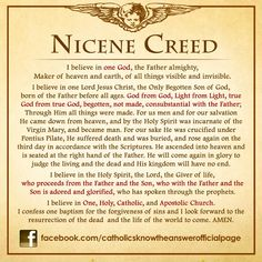 My Catholic Faith The Nicene Creed                                                                                                                                                                                 More