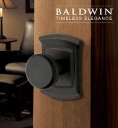 Baldwin Hardware 5023 Estate Tahoe Knob Indoor Door Handle - Knobs and Hardware Indoor Door Handles, Baldwin Door Hardware, Interior Design Inspiration, White Roses, Great Night, Home Accessories, Home Improvement, Wall Lights, Windows