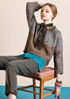 knitting, knitwear, crochet & other fiber obsessions Knitwear Fashion, Knit Fashion, Sweater Fashion, Moda Crochet, Knit Crochet, Pullover Mode, Cool Sweaters, Knitting Designs, Cardigans For Women