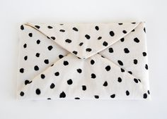 Roxy Marj Spotted Soft Envelope. $32.00, via Etsy.