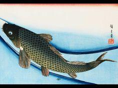 woodblock prints by ando hiroshige, japanese ukiyo-e artists and nature subjects. Fish Wallpaper, Painting Wallpaper, Japanese Prints, Japanese Art, Berlin, Koi Carp, Zen Art, Beautiful Fish, Oriental