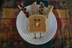 Holiday food for kids #turkey #toast #peanutbutter