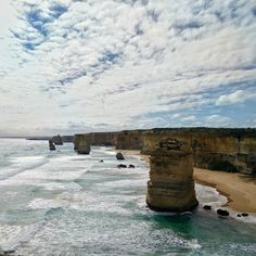 The Twelve Apostles along Great Ocean Road. Over the years some have fallen which my friend was able to verify with a photo taken when she visited years back! This also reflects the interesting and everchanging nature of geography.  How many of the apostles are standing today? Follow me on a road trip along Australia's east coast! by waikaye_