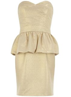 Gold bandeau dress