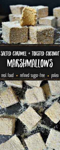 flavored marshmallows Light, fluffy, and deliciously sticky, these Real Food homemade marshmallows have a unique grown-up flavor in a hand-held, kid-friendly treat! These Paleo S Paleo Dessert, Healthy Dessert Recipes, Gluten Free Desserts, Candy Recipes, Healthy Treats, Sweet Recipes, Real Food Recipes, Fudge Recipes, Vegetarian Recipes