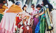 colorful Indian wedding photo by Erik Clausen | junebugweddings.com