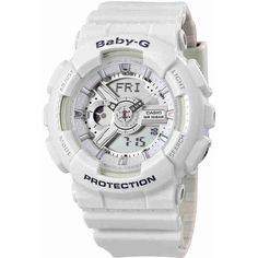 Casio Baby-G Analog-Digital Dial Ladies Watch (4,570 INR) ❤ liked on Polyvore featuring jewelry, watches, sport watch, digital wristwatch, resin jewelry, digital watches and casio watches