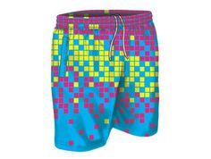 Oddballs swim shorts - Digital Rain swim shorts