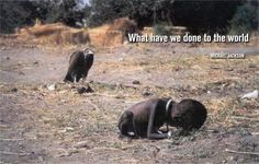Haunting photo of a vulture stalking an emaciated Sudanese girl who'd collapsed on her way to a feeding station won photographer Kevin Carter a Pulitzer Prize in 1994 being an observer and not getting involved he left after taking his photo and neither he nor the New York Times, who first published the photo knew what happened to her A few months later after collecting his Pulitzer Carter committed suicide, the violence he'd encountered in his life as a journalist becoming too much to live…