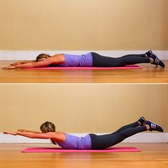 Upper body first, then lower body, then both: Hold for two to five seconds, and lower back down to complete one rep. Repeat 10 times.