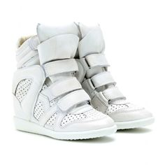 cafed45b4111 Isabel Marant Brian leather wedge sneakers----Absolutely love these! White  Wedge