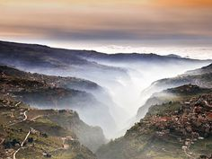 The Qadisha, or Holy Valley, is a deep gorge running approximately east-west in central Lebanon.