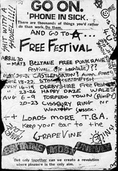 UK Free festivals of the 1970s and 80s from the brilliant site ukrockfestivals.com