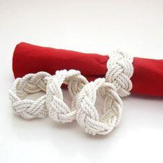 Mystic Knotwork Nautical Sailor Knot Turks Head Napkin Rings