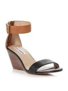 Steve Madden Irenee Ankle Strap Suede Block Heel Dress Sandals ...
