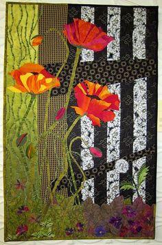herminehesse: Poppies - Quilt Art - BSL Studios