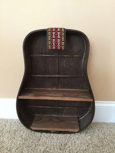 Rustic Guitar Shelf By TerrysGuitarArt $150.00