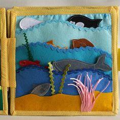Sea animals quiet book page