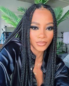 Makeup For Black Skin, Black Girl Makeup, Girls Makeup, Baddie Hairstyles, Black Girls Hairstyles, Braided Hairstyles, Beauty Makeup, Hair Makeup, Hair Beauty