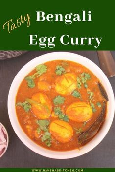 Bengali egg curry is an Indian egg curry recipe. It is made with eggs, onion, tomatoes and potatoes and some spices. This is a mildly spiced egg curry recipe. Egg curry Bengali style can be served with rice or roti or chapatis. Lunch Recipes, Healthy Dinner Recipes, Indian Food Recipes, Real Food Recipes, Great Recipes, Ethnic Recipes, Best Breakfast Recipes, Easy Recipes, Egg Curry