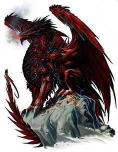 Ancient Red Dragon by *BenWootten on deviantART