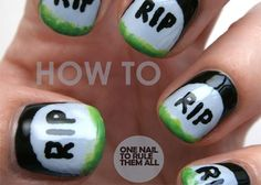 Get a Killer Mani With This Halloween Nail Art Tutorial | www.diyfashion.com