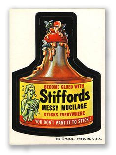 Topps Wacky Packages  5th Series 1973/4 STIFFORD'S GLUE