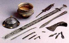 Merovingian shield boss and iron shield grip.