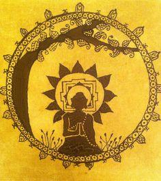 Buddha under Tree Mandala by BambooBooth on Etsy, $20.00