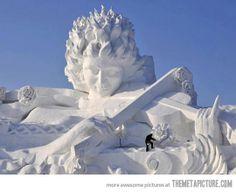 Unbelievable Snow Sculpture…