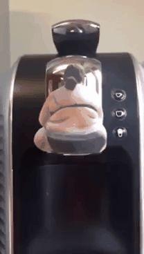 Very strange coffee machine