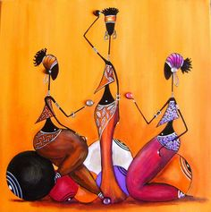 63 Ideas For Black Art Afro African Americans Illustrations Black Art Painting, Fabric Painting, Art Amour, Afrique Art, African Art Paintings, African Artwork, Art Premier, Afro Art, African American Art