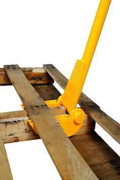 Deluxe pallet buster is designed for disassembling pallets easily Articulating head won't break or split the wood Features durable steel construction for added strength and long life Can also be used for dock board removal