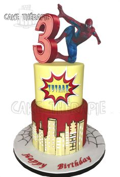 Spiderman cake by Caketherapie