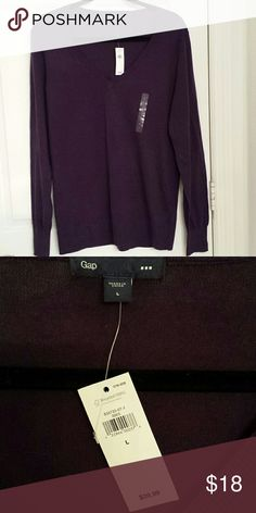 Gap sweater Purple soft gap sweater mint condition nwt. GAP Sweaters V-Necks