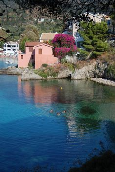 Assos village in Kefalonia island ~ Greece,