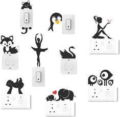 Socket art designs - Home decor interests Simple Wall Paintings, Creative Wall Painting, Wall Painting Decor, Diy Wall Art, Art Decor, Diy Room Decor Tumblr, Cute Diy Room Decor, Wall Art Designs, Paint Designs