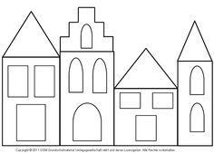 Fensterbild: Häuser mit Transparentpapier 2 - Medienwerkstatt-Wissen © 2006-2008 Medienwerkstatt