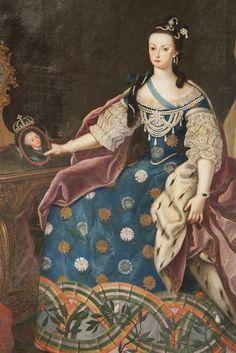 Retrato de D. Maria I, pormenor