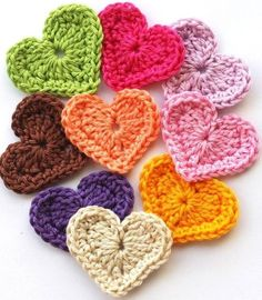 crochet hearts for beginners - Google Search