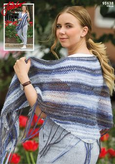 Lovely shawl. Knit it with Stella.