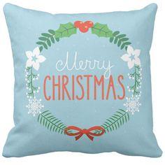 Poduszka ozdobna niebieska Merry Christmas pod-6680 | poduszki i poszewki ozdobne na ArtMini.pl