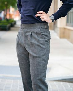 """thearmoury: """"A shot of Max's new bespoke trousers by @pommellanapoli from our last trunk show. This cloth from Harrisons Spring Ram bunch will be available to order during our next trunk show at the end of next month, please email or DM for..."""